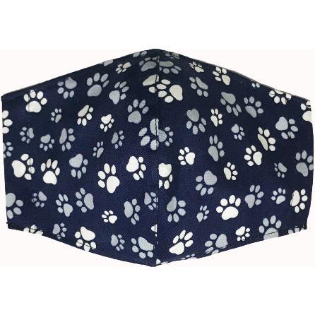 不織布マスクがそのまま使える布マスクカバー 肉球プリント 肌側に抗ウイルス・抗菌素材使用 猫 犬 日本製 コットン100%|yume-ribbon|06