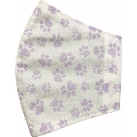 不織布マスクがそのまま使える布マスクカバー 肉球プリント 肌側に抗ウイルス・抗菌素材使用 猫 犬 日本製 コットン100%|yume-ribbon|07
