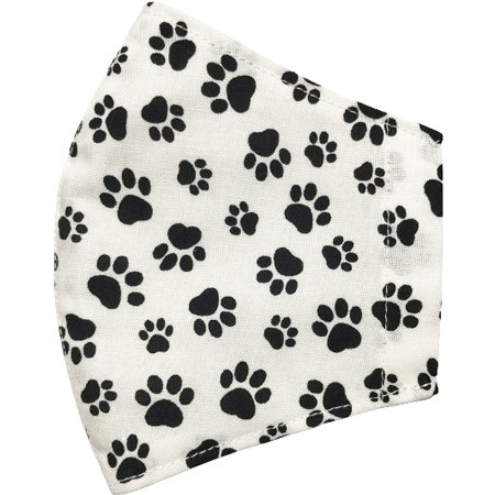 不織布マスクがそのまま使える布マスクカバー 肉球プリント 肌側に抗ウイルス・抗菌素材使用 猫 犬 日本製 コットン100%|yume-ribbon|08