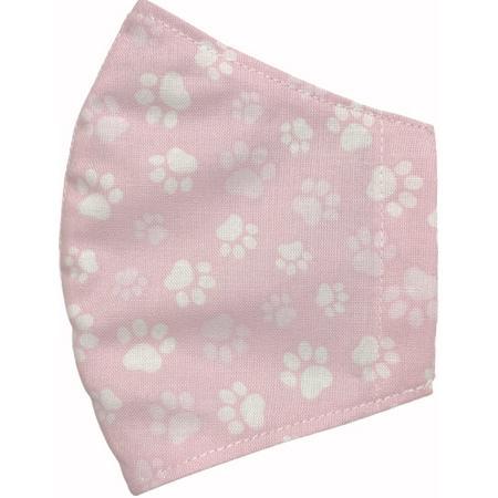 不織布マスクがそのまま使える布マスクカバー 肉球プリント 肌側に抗ウイルス・抗菌素材使用 猫 犬 日本製 コットン100%|yume-ribbon|10