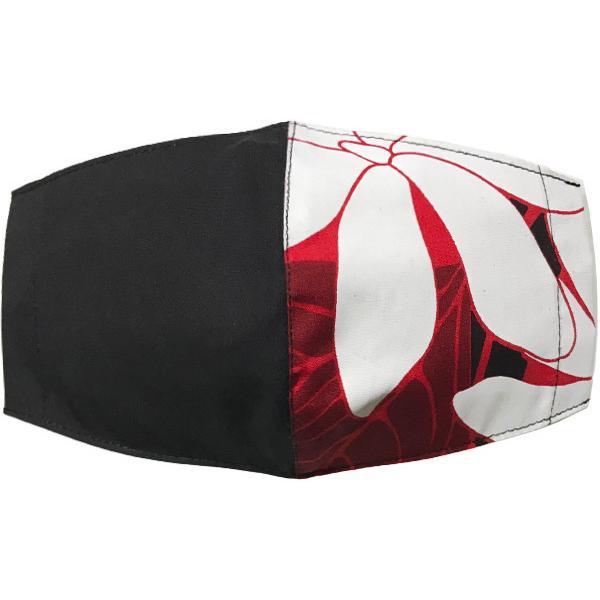 ハワイアンプリントのマスクカバー 不織布マスクがそのまま使える しわになりにくいポリコットン 肌側に抗ウイルス・抗菌素材使用  日本製 yume-ribbon 13