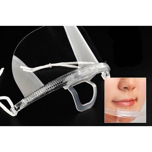 透明マウスシールド10個セット 飛沫防止対策用の透明マスク 安心の2段階検品 予備のゴムひも付き yume-ribbon 04