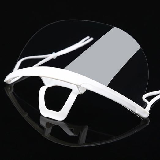 透明マウスシールド10個セット 飛沫防止対策用の透明マスク 安心の2段階検品 予備のゴムひも付き yume-ribbon 07