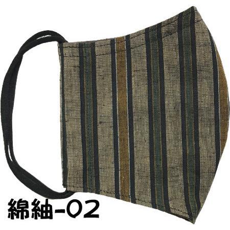 綿紬の和風おしゃれマスク yume-ribbon 03