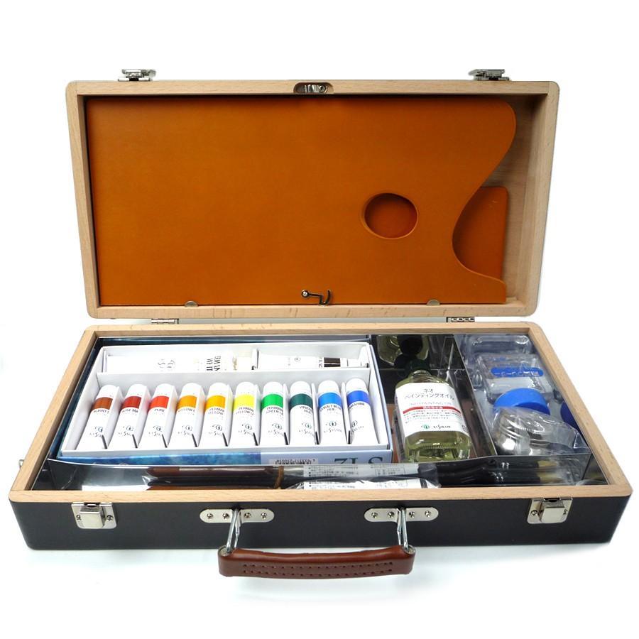 ゆめ画材 限定 クサカベ 油絵具一式 木箱セット 【画材屋さんが選んだ初心者の方におすすめセット】|yumegazai
