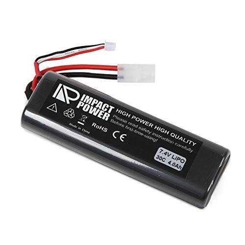 IMPACT POWER RCカー ラジコン 電動ガン リポ Lipo 30C 7.4V 4000mAh バッテリー ストレートパック