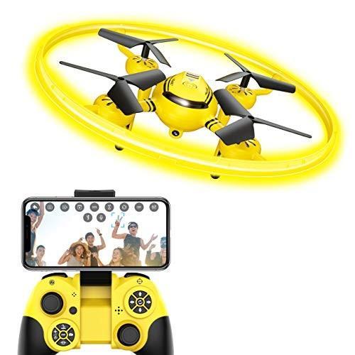 ドローン カメラ付き WI-FI FPV機能 HDドローン マルチコプター LEDライト 体感モード 高度維持機能搭載 初心者子供向け 日本語説明書