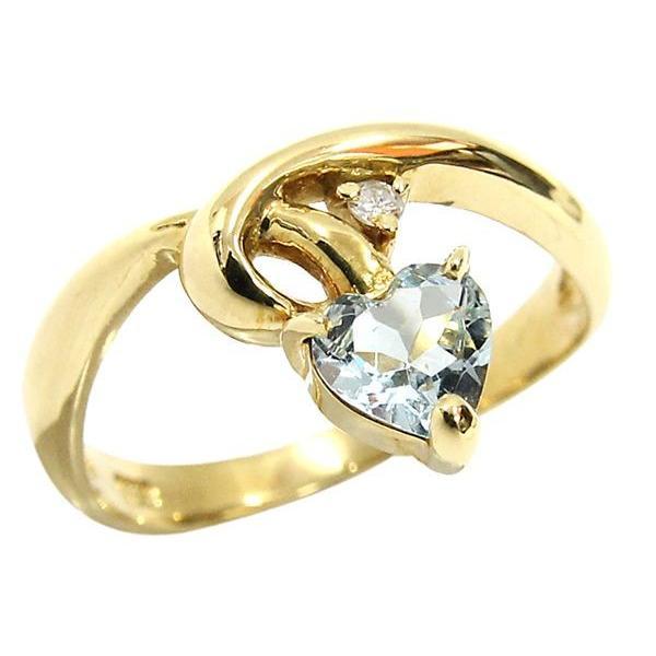 最新のデザイン K18YG 色石/カラーストーン ダイヤモンド デザインリング ハートシェイプ 8.5号 110629003 ジュエリー アクセサリー, 南方酵素 4441d685