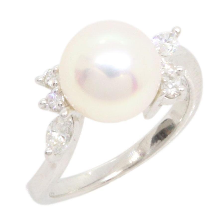 卸売 パール ダイヤモンド リング 8mm 0.23ct 8号 Pt900 8号 Diamond 8mm 指輪 プラチナ 真珠 Pearl Diamond, エフ スリーズィー:63318d43 --- airmodconsu.dominiotemporario.com