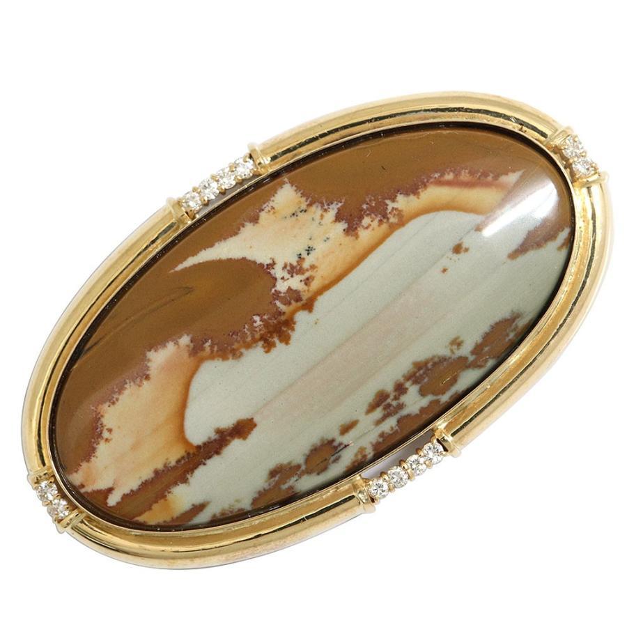 ダイヤモンド 帯留め 0.29ct K18YG 中古 帯 和服 和装 着物 イエローゴールド Diamond