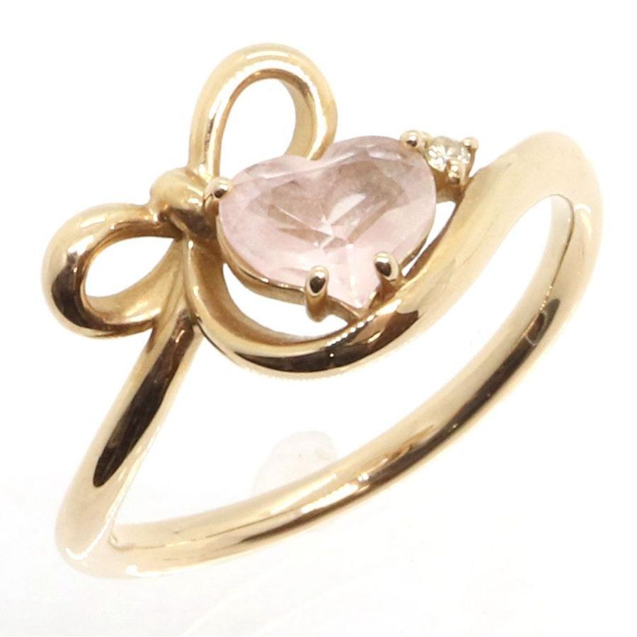 大勧め サマンサティアラ リング ハートモチーフ PG ピンクゴールド カラーストーン 7号  指輪 リボン Samantha Tiara, 真珠の卸屋さん a03dbfb9