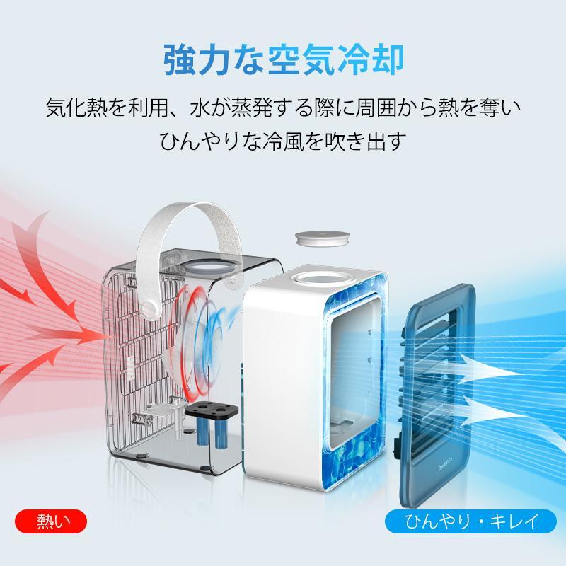 【12%OFFクーポン】冷風扇 扇風機 ミニ冷風機 USB給電 卓上冷風機 軽音 ミニクーラー 3段階 タイマー機能付き UV除菌ライト(B1ARF03ZLB)|yumenomori|08