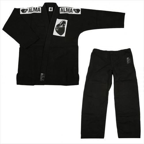 ALMA アルマ レギュラーキモノ 国産柔術衣 M00 黒 上下 JU1-M00-BK (APIs)