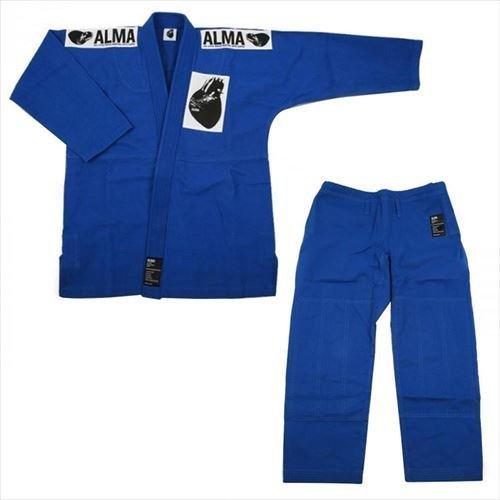 ALMA アルマ レギュラーキモノ 国産柔術衣 M00 青 上下 JU1-M00-BU (APIs)