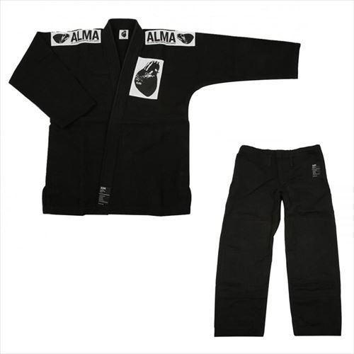 ALMA アルマ レギュラーキモノ 国産柔術衣 M0 黒 上下 JU1-M0-BK (APIs)