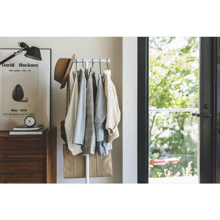 ポールハンガー スマート ハンガーラック コートラック 衣類収納 ワードローブ ハンガー スリム省スペース おしゃれ 人気|yumeoffice|09