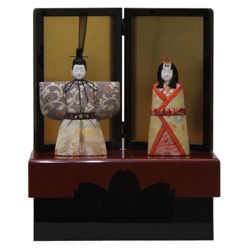 雛人形 収納飾り木目込み立雛 彩明立雛1170 幅35cm 3mk25 真多呂