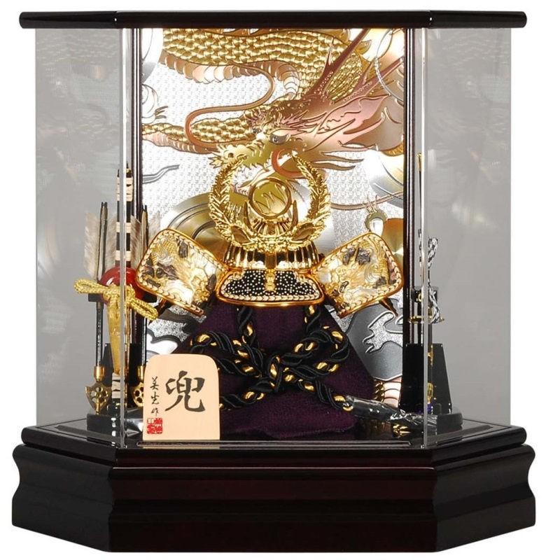 五月人形 兜 ケース飾り 徳川家康 幅39cm [sb-2-19]