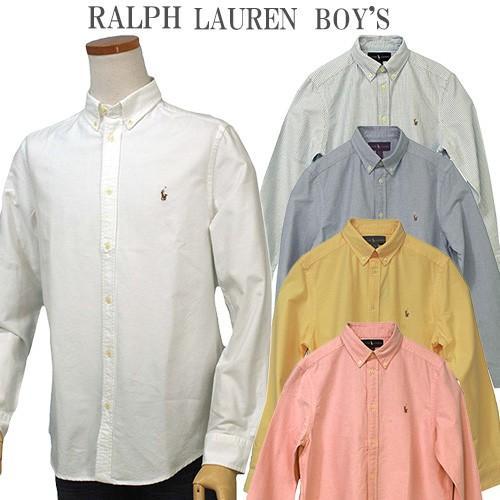 ポロ ラルフローレン オックスフォードシャツ 長袖 メンズ レディース カジュアルシャツ POLO by Ralph Lauren Boy's (#323677133 #323677177 )|yumesse