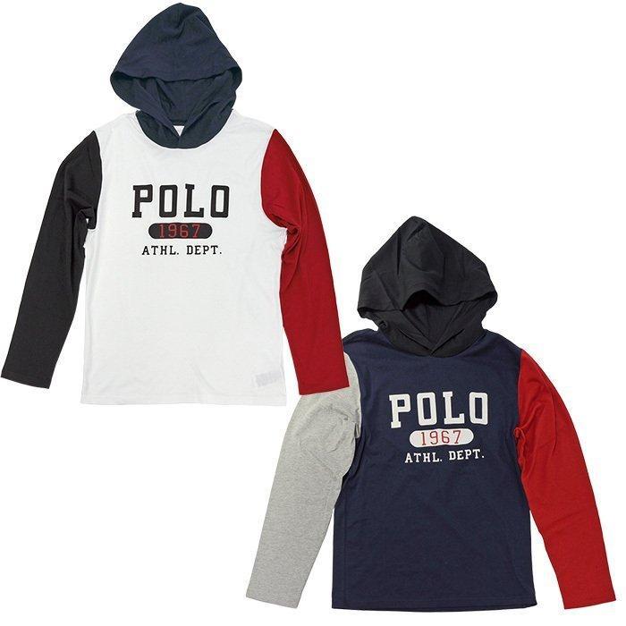 ポロラルフローレン 長袖 Tシャツ Tパーカー メンズ レディース フード付き ブランド 綿100% #323853714|yumesse|03
