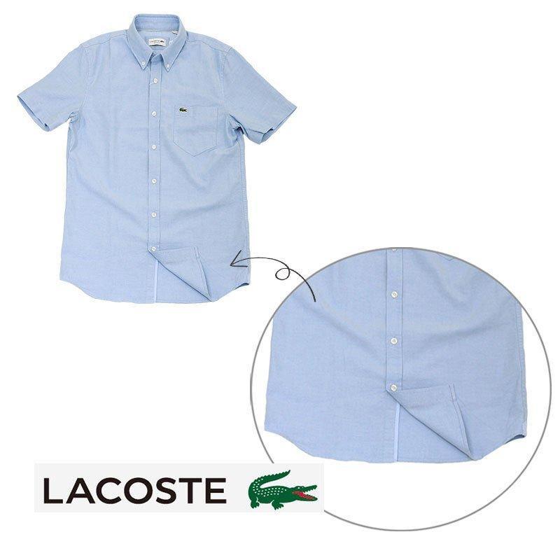 ラコステ シャツ 半袖 メンズ オックスフォードシャツ  カジュアルシャツ ブランド 2021年 春 大きいサイズ LACOSTE  #la-ch4975-51|yumesse|11