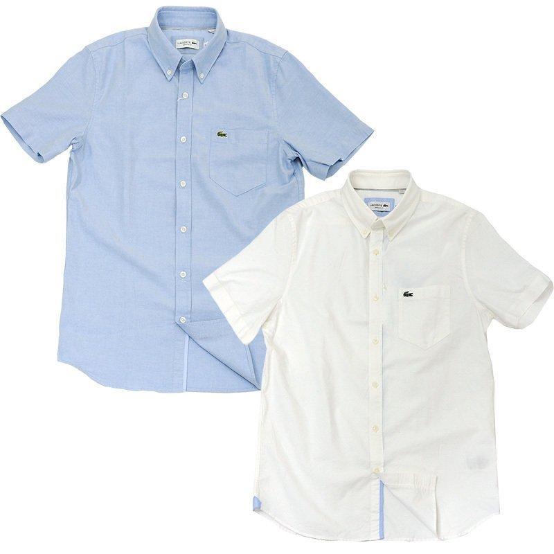 ラコステ シャツ 半袖 メンズ オックスフォードシャツ  カジュアルシャツ ブランド 2021年 春 大きいサイズ LACOSTE  #la-ch4975-51|yumesse|04