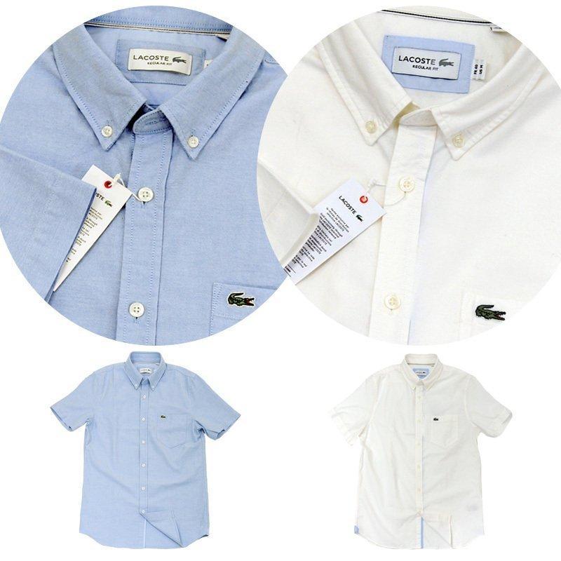 ラコステ シャツ 半袖 メンズ オックスフォードシャツ  カジュアルシャツ ブランド 2021年 春 大きいサイズ LACOSTE  #la-ch4975-51|yumesse|05