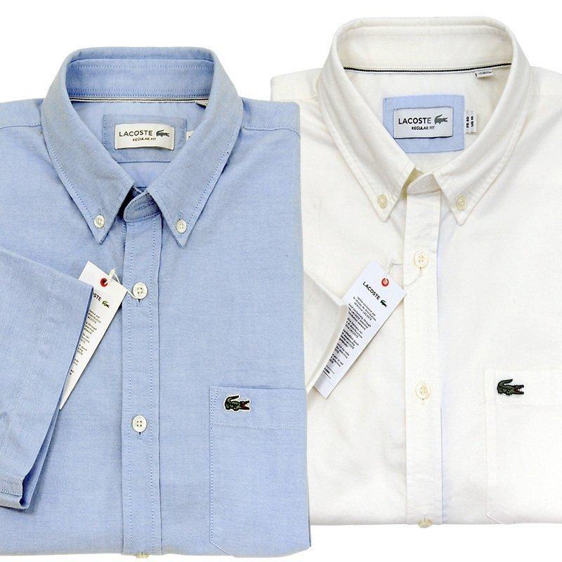 ラコステ シャツ 半袖 メンズ オックスフォードシャツ  カジュアルシャツ ブランド 2021年 春 大きいサイズ LACOSTE  #la-ch4975-51|yumesse|06