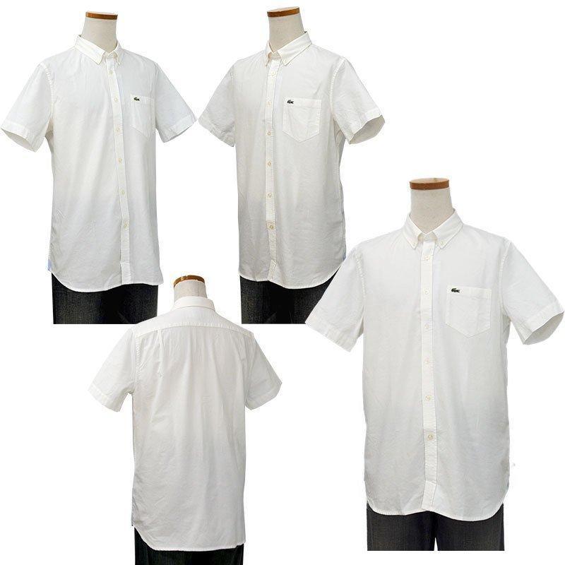 ラコステ シャツ 半袖 メンズ オックスフォードシャツ  カジュアルシャツ ブランド 2021年 春 大きいサイズ LACOSTE  #la-ch4975-51|yumesse|07