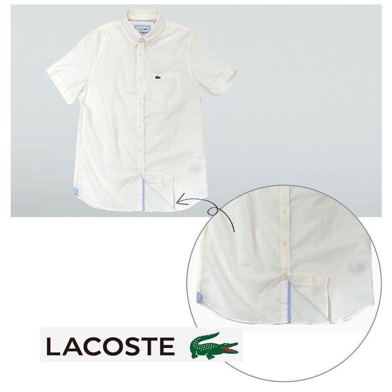 ラコステ シャツ 半袖 メンズ オックスフォードシャツ  カジュアルシャツ ブランド 2021年 春 大きいサイズ LACOSTE  #la-ch4975-51|yumesse|08