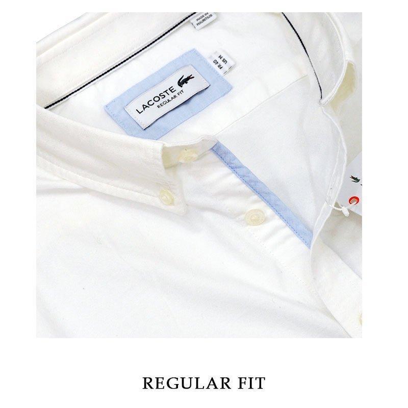 ラコステ シャツ 半袖 メンズ オックスフォードシャツ  カジュアルシャツ ブランド 2021年 春 大きいサイズ LACOSTE  #la-ch4975-51|yumesse|09