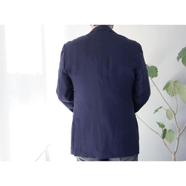 紺ブレザー ビジネスジャケット メンズ  シングル アンジェリコ3つボタン段返り 背抜き 紺ブレ 04043|yumesse|02