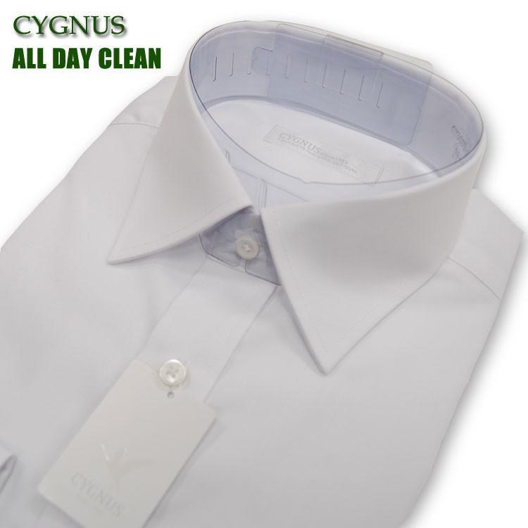 ワイシャツ メンズ 長袖 ビジネス形態安定 抗菌防臭加工 ボタンダウンシャツ カッターシャツ CYGNUS (シグナス)  GYD001 yumesse