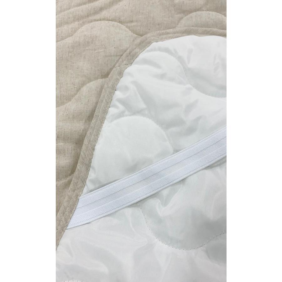 敷きパッド シングル 100×200cm 麻×綿 シングルサイズ 敷パッド S 丸洗いOK ベッドパット yumesse 12