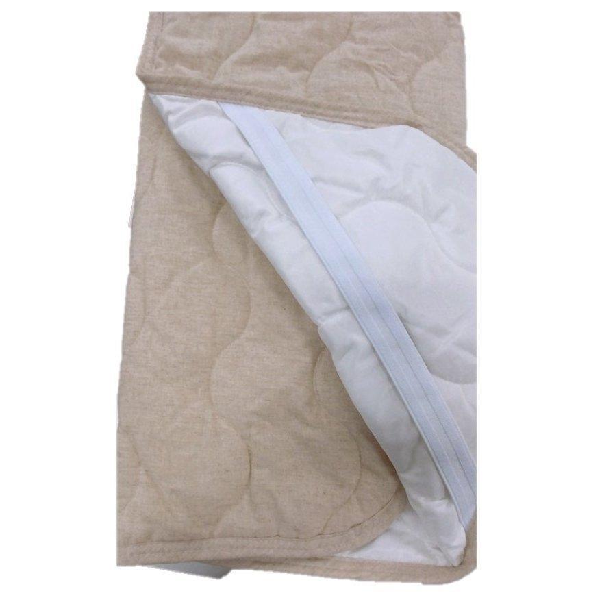 敷きパッド シングル 100×200cm 麻×綿 シングルサイズ 敷パッド S 丸洗いOK ベッドパット yumesse 05