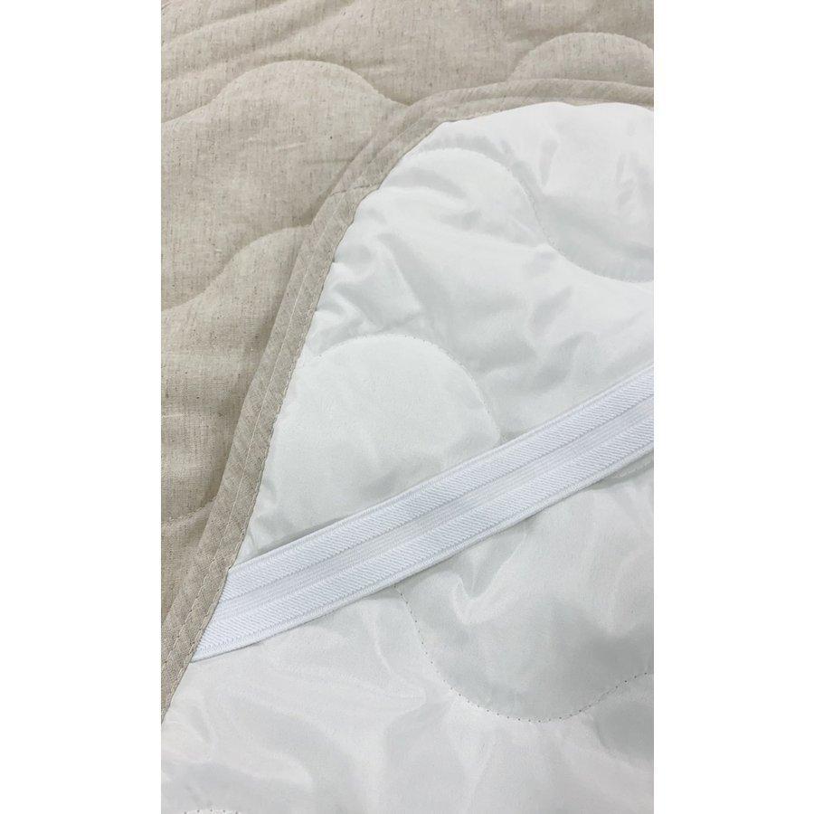 敷きパッド シングル 100×200cm 麻×綿 シングルサイズ 敷パッド S 丸洗いOK ベッドパット yumesse 09