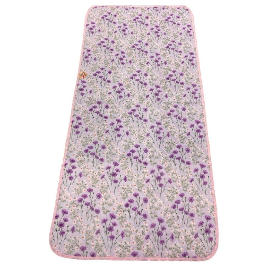 敷きパッド シングル 100×205cm 二重ガーゼ シングルサイズ 花柄 敷パッド S ガーゼ生地 肌にやさしいガーゼ素材 丸洗いOK ベッドパット yumesse 09