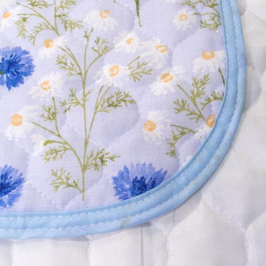 敷きパッド シングル 100×205cm 二重ガーゼ シングルサイズ 花柄 敷パッド S ガーゼ生地 肌にやさしいガーゼ素材 丸洗いOK ベッドパット yumesse 17