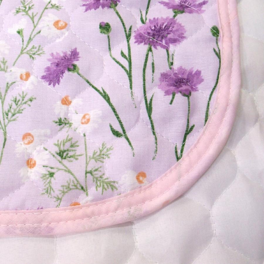 敷きパッド シングル 100×205cm 二重ガーゼ シングルサイズ 花柄 敷パッド S ガーゼ生地 肌にやさしいガーゼ素材 丸洗いOK ベッドパット yumesse 15
