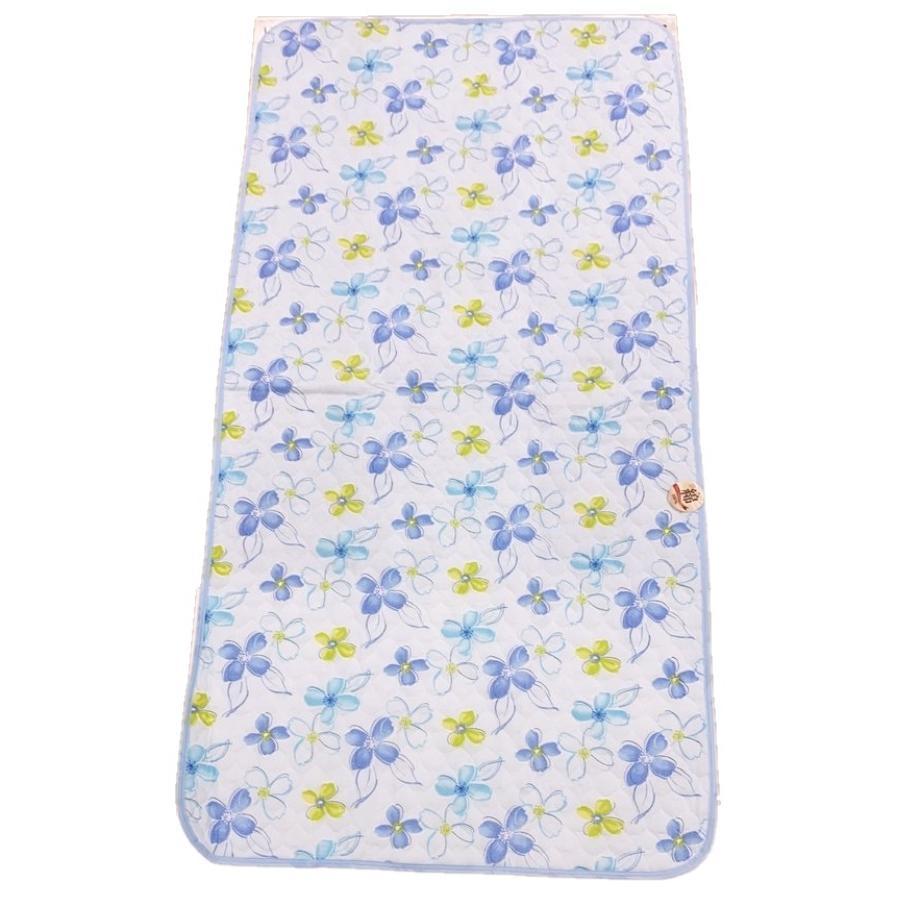 敷きパッド シングル 100×205cm 二重ガーゼ シングルサイズ 花柄 敷パッド S ガーゼ生地 肌にやさしいガーゼ素材 丸洗いOK ベッドパット yumesse 12