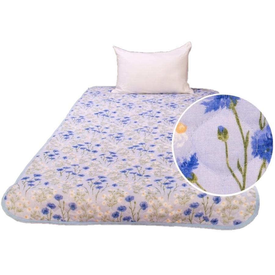 敷きパッド シングル 100×205cm 二重ガーゼ シングルサイズ 花柄 敷パッド S ガーゼ生地 肌にやさしいガーゼ素材 丸洗いOK ベッドパット yumesse 05