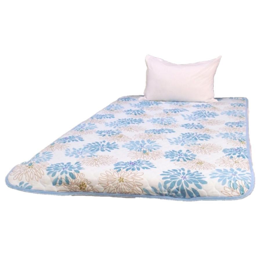 敷きパッド シングル 100×205cm 二重ガーゼ シングルサイズ 花柄 敷パッド S ガーゼ生地 肌にやさしいガーゼ素材 丸洗いOK ベッドパット yumesse 06