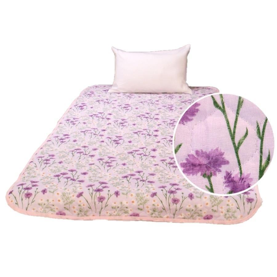 敷きパッド シングル 100×205cm 二重ガーゼ シングルサイズ 花柄 敷パッド S ガーゼ生地 肌にやさしいガーゼ素材 丸洗いOK ベッドパット yumesse 18