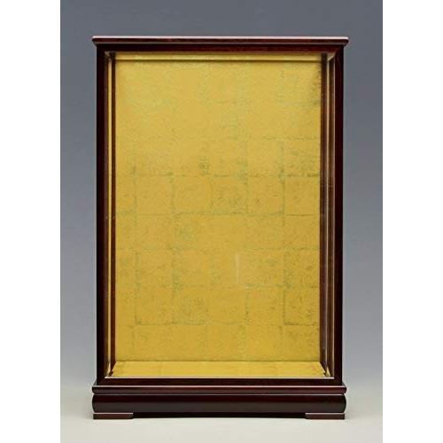ガラスケース1212 間口36×奥行30×高さ53cm(ケース内寸) 花梨塗り 人形ケース 木製戸付 日本人形 市松人形ケース