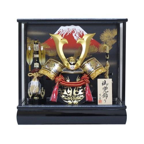 五月人形ケース 兜飾り10号中鍬角兜ケース飾りYN52803GKC kabuto-49
