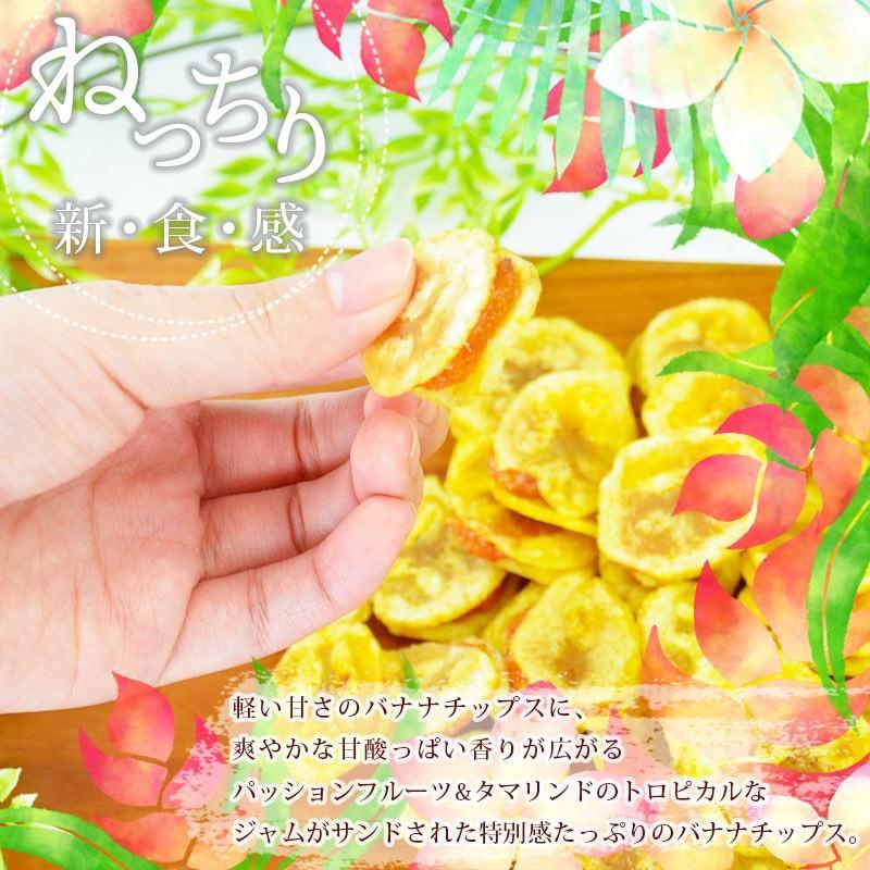 バナナチップス <パッションバナナサンド 200g> タマリンド パッションフルーツ トロピカル ばなな ココナッツオイル|yummy39|02