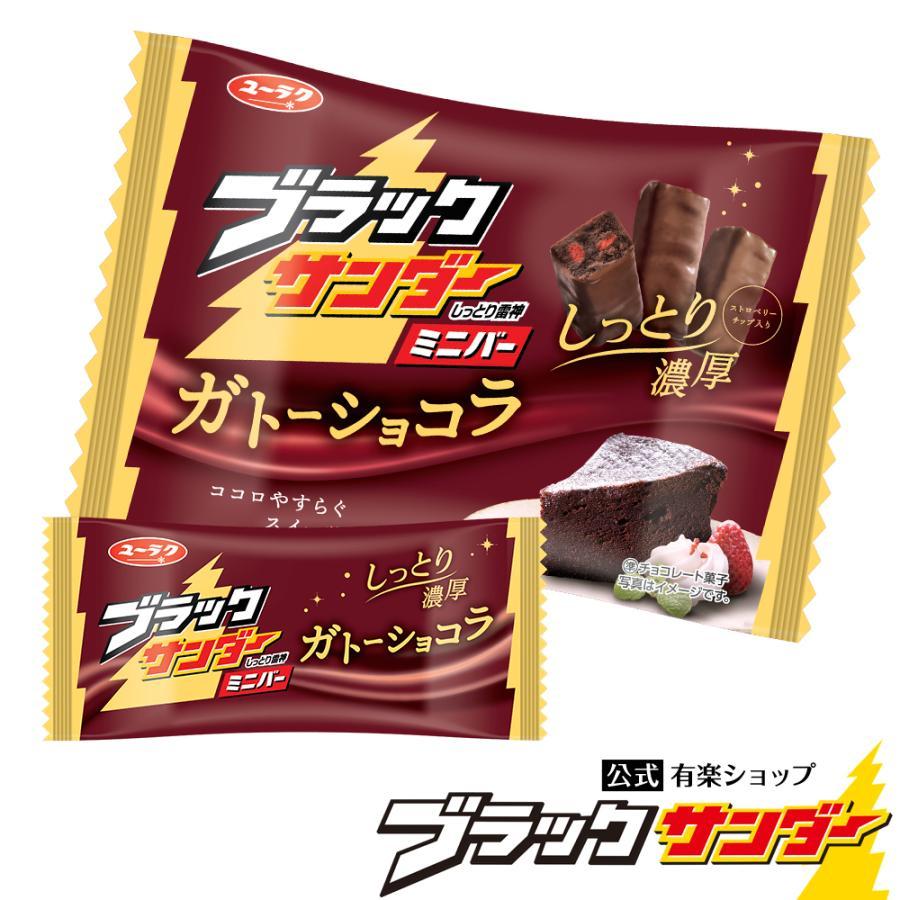 ブラックサンダーミニバー ガトーショコラ 2021 母の日 プレゼント 花以外 実用的 チョコ プチギフト スイーツ お菓子 ギフト ブラック サンダー 個包装|yurakuseika