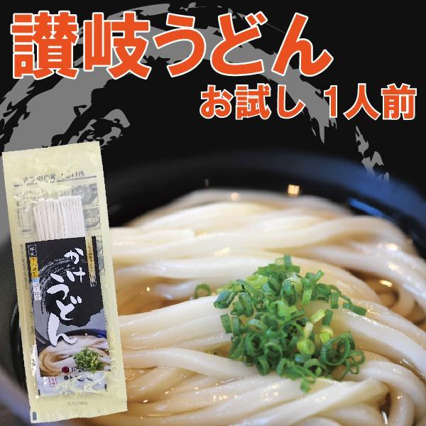お試し 讃岐うどん 半生うどん 1人前 100g かけつゆ付 ご自宅 在宅 個包装|yurakuya-udon