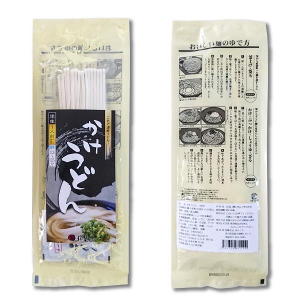 お試し 讃岐うどん 半生うどん 1人前 100g かけつゆ付 ご自宅 在宅 個包装|yurakuya-udon|02