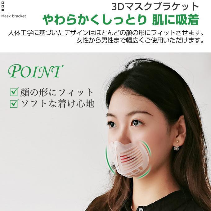 マスクブラケット 3枚セット マスクインナーサポート 洗える 繰り返し使える 息がしやすい 呼吸確保 マスクガード ムレ対策 蒸れ防止 在庫あり 当日出荷|yuria|02